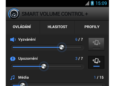 Volume Control UI/UX - Smart Volume Control volume control ui ux icon design graphic android mobile interface user developers