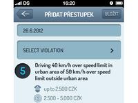 Add new offense - Czech Point System - UI/UX