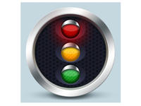 Traffic lights icon - Czech Point System