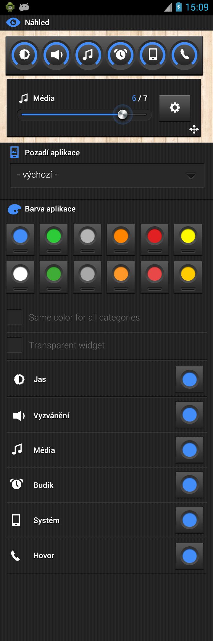 Color settings full