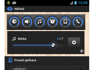 Color settings UI/UX - Smart Volume Control color settings user interface mobile android graphic design icon ux ui control