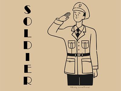 character practice-soldier