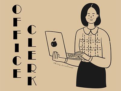 character practice-office clerk
