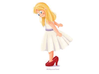 wearing mother's high heels