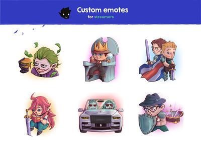 EMOTES 001 emote emotestwitch digital art photoshop digitalart color design illustration
