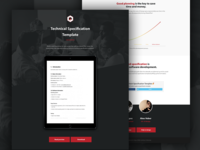 Specification template onepager