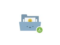 Download Folder happy character lock security illustrator face cute download folder illustration