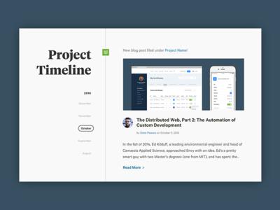 Project Timeline calendar time blog web design icon avatar calibre tiempos timeline