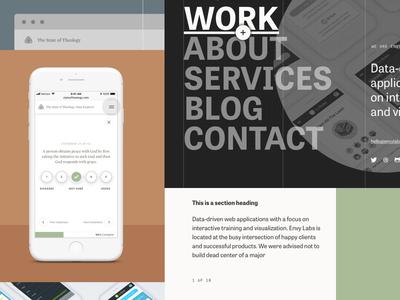 Site Explorations portfolio case study mobile design site web design
