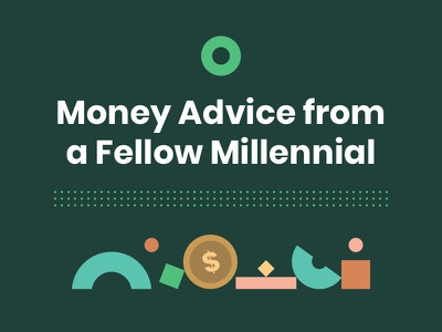 Introducing Millennial Money Guide 💸 minimal colorful branding vector illustration finance poppins geometric flat brand millennial education mailchimp newsletter financial money