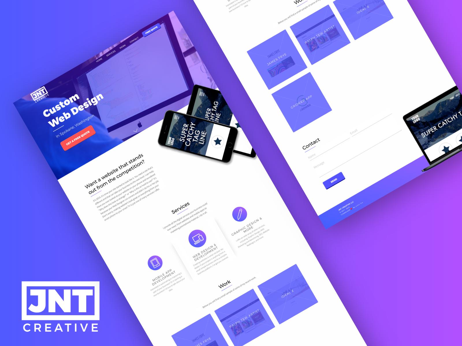 Jnt Creative Website Mockup By Justin Tew Design Inspiration