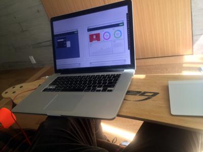 skate-desk workspace