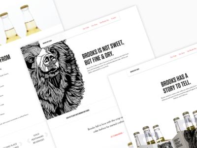 Brooks Dry Cider Website Redesign