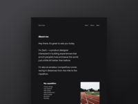 New Portfolio About Page