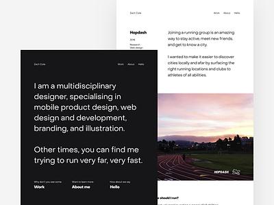 New Design Portfolio layout typography portfolio web development product design grid website css web design