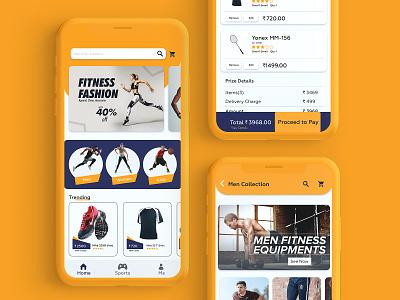 FreshFit Mobile Application app app design sports kerala user experience user interface design userinterface ux uiux ui design branding ui