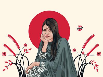 Portrait Illustration procreate portrait illustration illustrator girl character character design illustration
