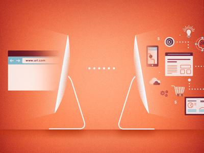 Domains & Ideas illustration imac apps ideas domains noise