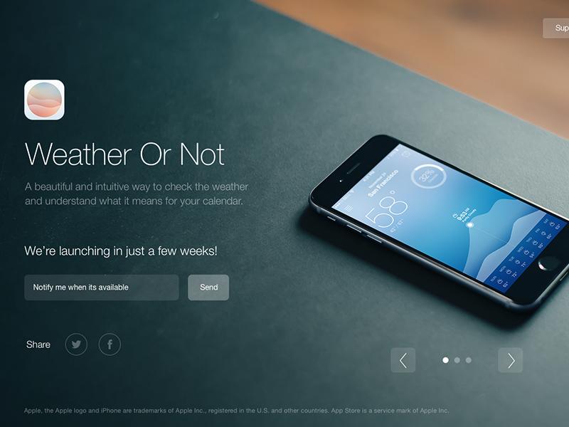 Weather Or Not ios app apple ui ux weather calendar
