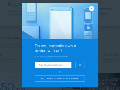 Mo' Pop-Ups fun form popup devices phones blue illustration