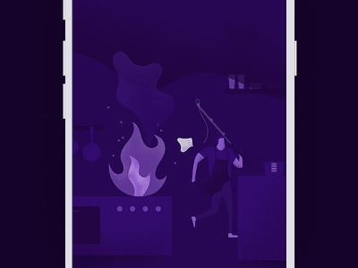 Chop Offline Error app ios ui fire illustration chop error offline