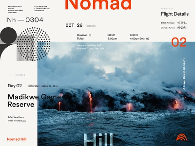 Nomad Hill Brand Board mid century pattern littmann identity brand nomad hill