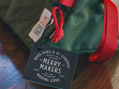 Christmas Bag Tag type holiday christmas tag bag topo