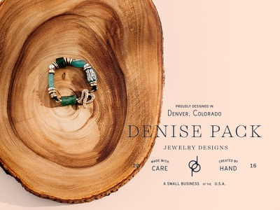 Denise Pack typography logo branding jewelry