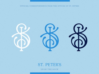 St. Peter's Monogram branding blue church logo monogram