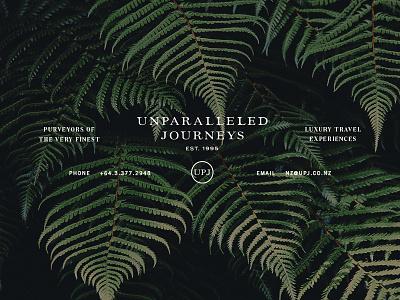UPJ typography identity luxury travel upj branding
