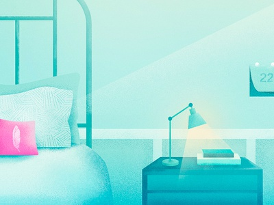 Pillow Homes interior home pillow illustration