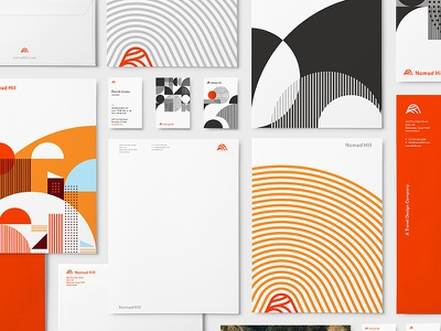 Nomad Hill Stationery - CA Design Annual award collateral identity logo hill nomad stationery