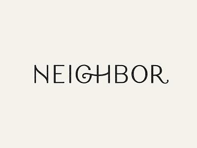 Neighbor logotype brand neighbor custom type