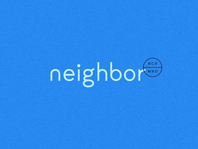 Neighbor neighbor typography identity brand blue custom logotype
