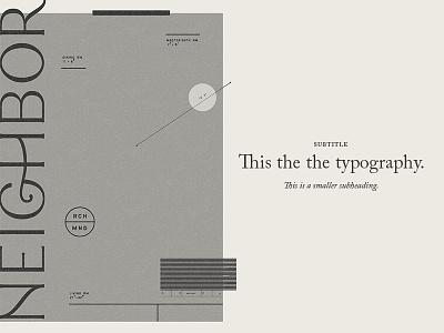 Neighbor Elements pattern typography identity brand neighbor