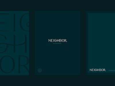 Neighbor Stationery branding brand identity neighbor blue green stationery pattern