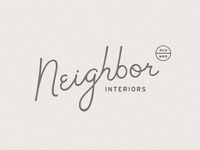 Neighbor Reject lettering script typography identity brand neighbor
