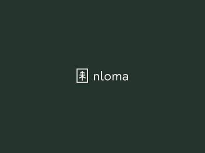 Nloma brand branding green tree mark logotype logo nloma