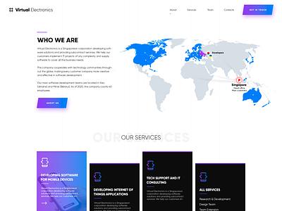 Virtual Electronics design branding flat design unique design creative design website ui ux web design