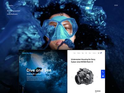 Dive and Sea branding unique design creative design website design web design