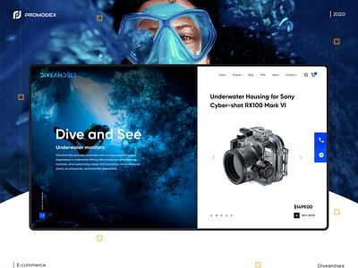 Dive and Sea Case branding unique design creative design website web design