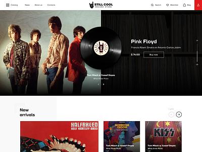 STILL COOL ecommerce design ui ux dribbble unique logo website webdesign vinyl music