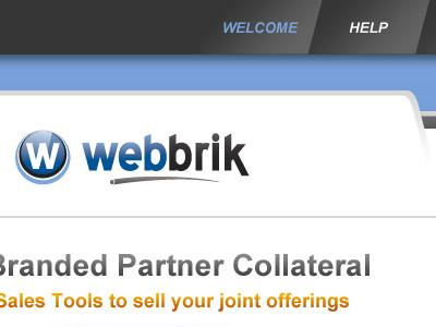 Webbrik Web Application Concept