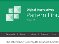 Pattern Library Header