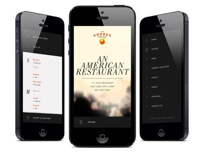 Restaurant Mobile-Site Sneak Peak