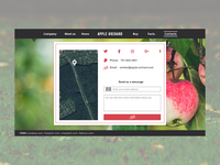 Apple Orchard website: Contacts