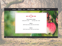 Apple Orchard website: Meet Us page
