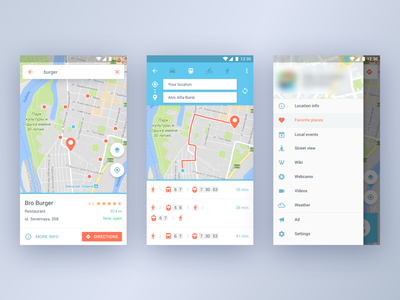 Google Maps Fork maps app ux android