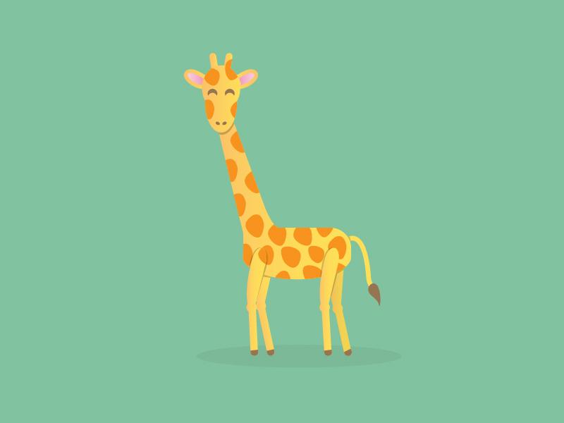 Giraffe Illustration By 14 56 Graphic Design Dribbble