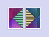 Geometric pattern posters